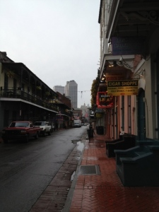 Early morning on Bourbon Street