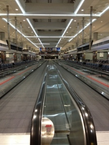 Terminal B at DIA. I've never it seen it so empty!